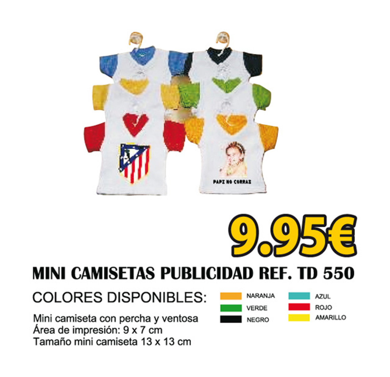 Mini camisetas llavero